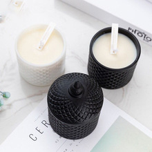 1PC Aromeasy Smokeless Fragrance Scented Candle Glass Soy Wax Natural Banquet Wedding Candlestick Home Decor Aromatherapy