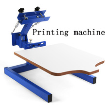 Printing Screen Printing Machine Monochrome Manual Printing Machine Handprint Table T-shirt Clothes Non-woven Bag Countertop manual silk screen printing machine with vacuum