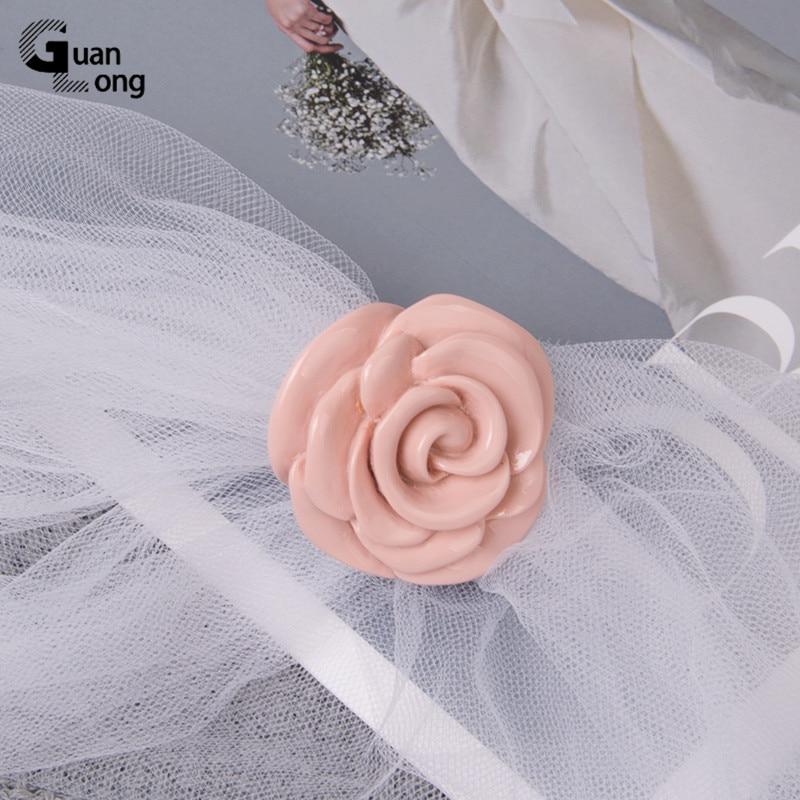 Guanlong Acrylic Rose Flower Engagement Women's Rings Fashion Jewelry Resin Vintage Wedding Ring for Girls Female Punk Rings 5
