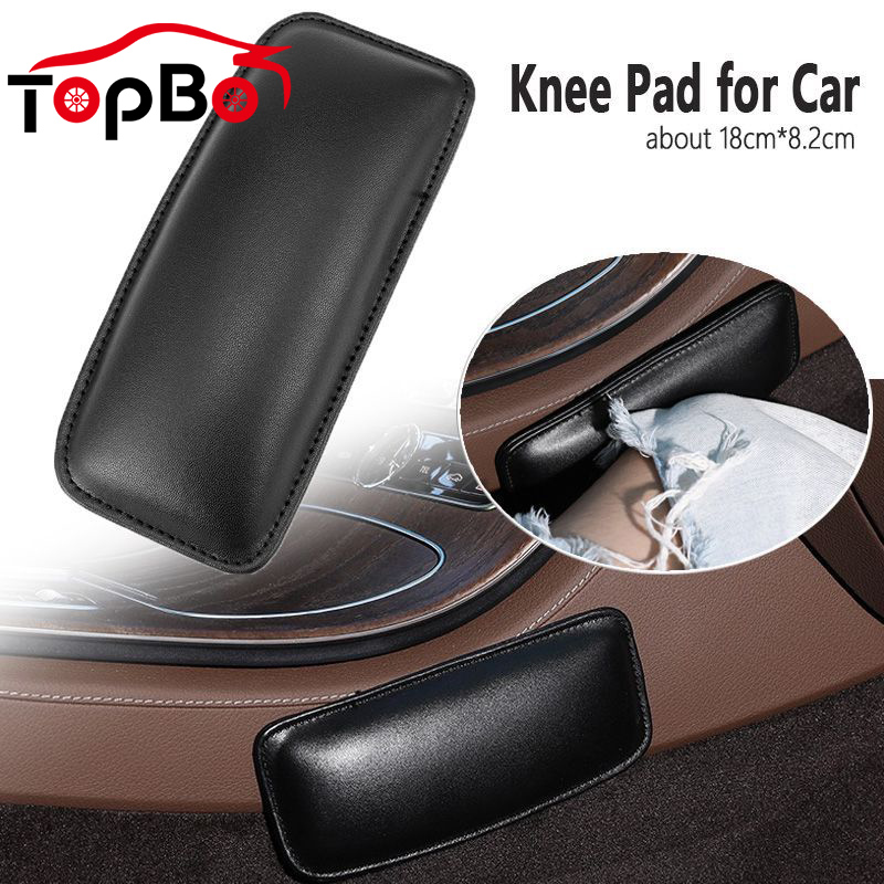 Comfortable PU Leather Car Knee Pad Cushion For Car Interior Pillow Elastic Cushion Memory Foam Auto Accessories