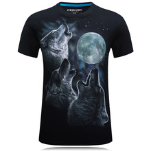 Vente chaude nouveau 3D imprimé hibou t-shirt coton décontracté créatif à manches courtes t-shirt homme Style été Hip Hop t-shirts col rond