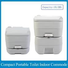 Toalete compacto do potty do curso da commode do toalete portátil com o tanque waste de 5.3 galas e construído-em despeje o bico e o pulverizador de lavagem