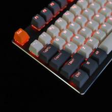 Ymdk duplo tiro 108 tingido pbt brilhar através do perfil oem arco-íris carbono pôr do sol hana keycap para mx switches teclado mecânico