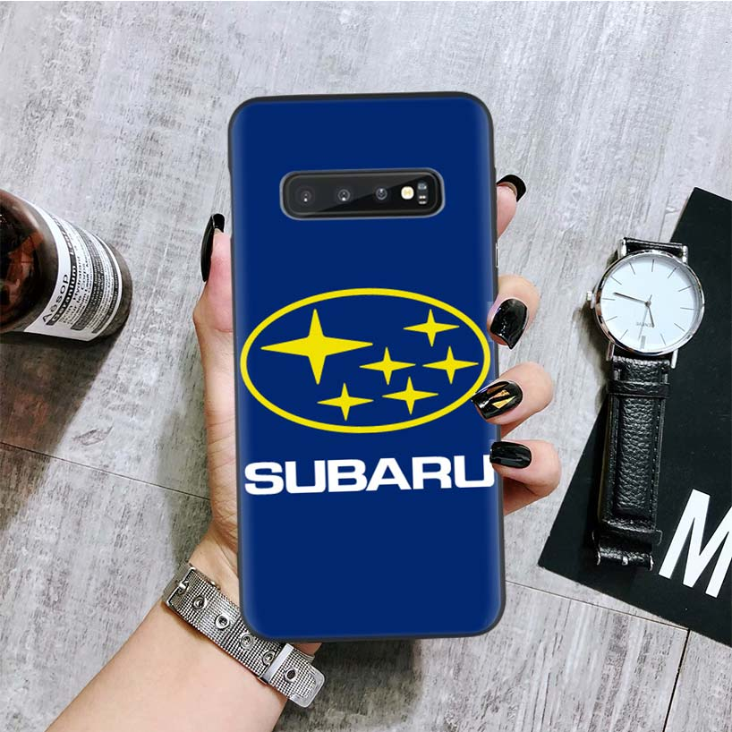 Новый автомобильный Логотип Subaru черный чехол для samsung Galaxy S10 + Plus Lite Note 10 9 8 S9 S8 J4 J6 + Plus S7 S6 Edge чехол для телефона Coq