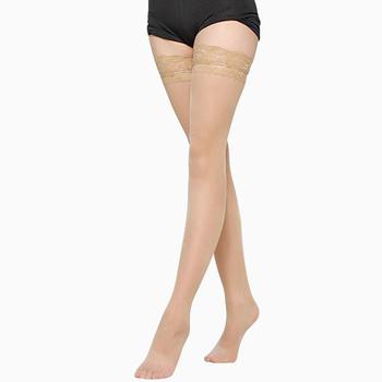 1 para damska Sexy Stocking Sheer Lace udo wysokie pończochy siatki dla kobiet kobiece pończochy różowa fioletowa skóra czerwona tanie i dobre opinie CN (pochodzenie) NYLON 526466 Stałe 30 71inch Cienkie