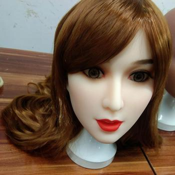 Real Oral Sex Silicone Sex Dolls Head for 140-170cm Japanese love doll Adult Sex Toy