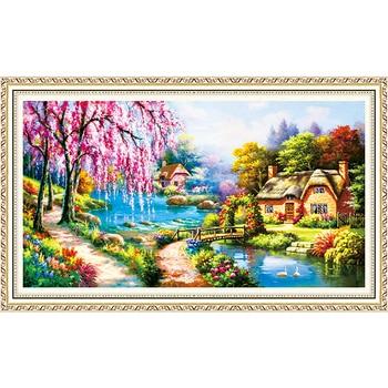 5D DIY Diamond Painting Partial Diamond Embroidery Landscape Sale Round Diamond Mosaic Cross Stitch Set Home Decor 58x100CM фото