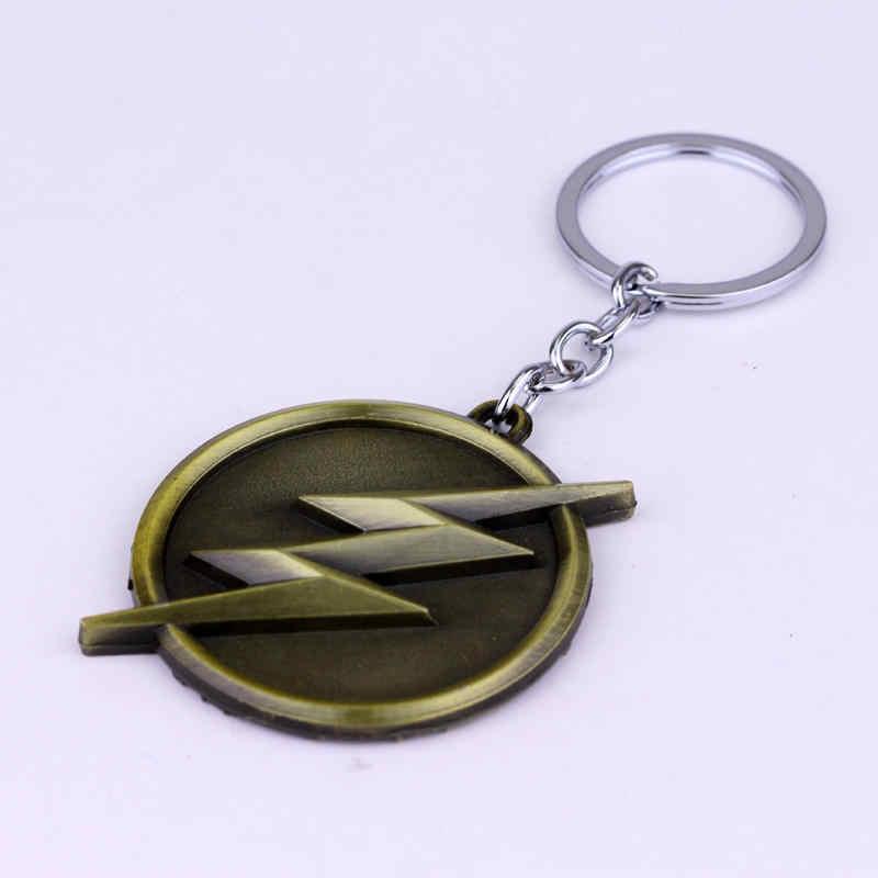ZRM فلاش المفاتيح الأزياء Flashman البرق شعار مفتاح سلسلة بارد الرجال النساء الفيلم مفتاح خاتم سيارة التبعي