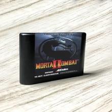 Mortal Kombat II   EUR Label Flashkit MD Electroless Gold PCB Card for Sega Genesis Megadrive Video Game Console