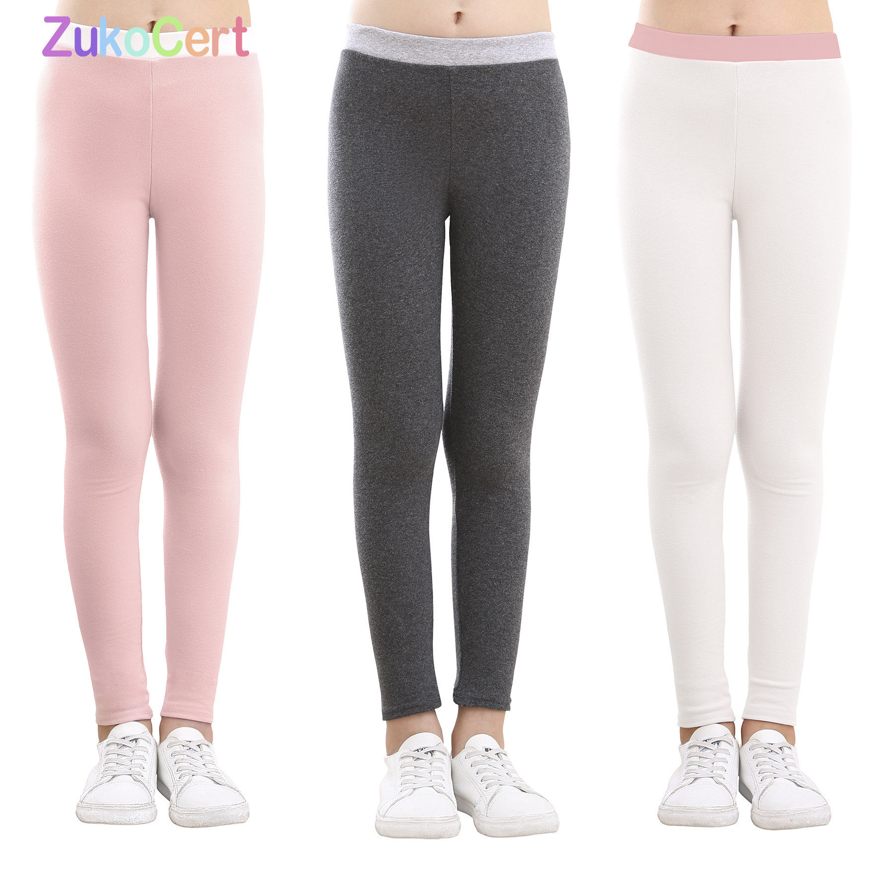 Cotton family matching clothes Women Kids Girls mother and daughter Leggings Casual Warm matching family clothing Solid Colors