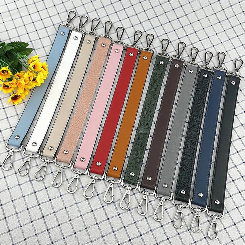 Fashion Belt Strap For Women Handbag Handle Serpentine PU Leather Shoulder Bags Strap Short Belt Accessories For Women Bags 42cm