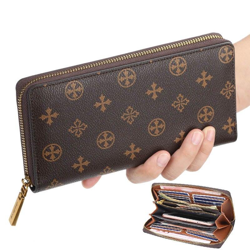 2020 Retro Women's Wallet and Purse Multi-functional Long Purse Zipper Phone Wallet Louis Money Luxury Designer Card Holder