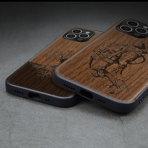 Image 2 - Carveit עץ כיסוי רך קצה בחזרה מקרים עבור iPhone 12 7 8 בתוספת מיני 11 פרו מקסימום X XS XR SE 2020 אביזרי טלפון מגן גוף