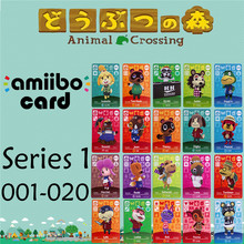 Пересечение животных подлинных данных новые горизонты игры Марио карты для NS переключатель 3DS игра набор NFC карт Ряд1 001-020 матовый материал