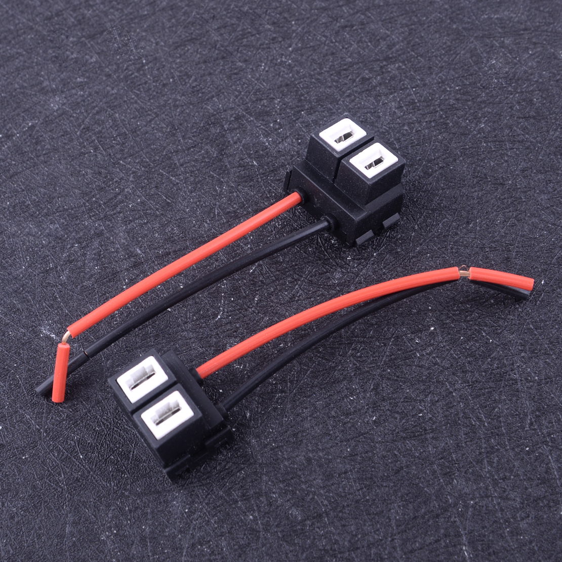 DWCX 2 шт. H7 керамический жгут проводов для передних фар противотуманных фар с предварительно проводными разъемами держатель лампы соедините...