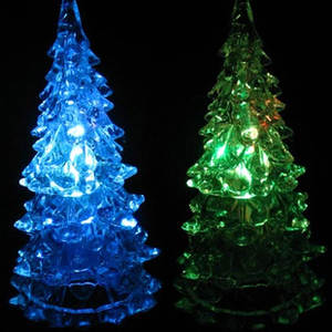 Night-Lamp Crystal Christmas-Tree-Gift Creative for Stall-Supply of Goods Acrylic Colorful