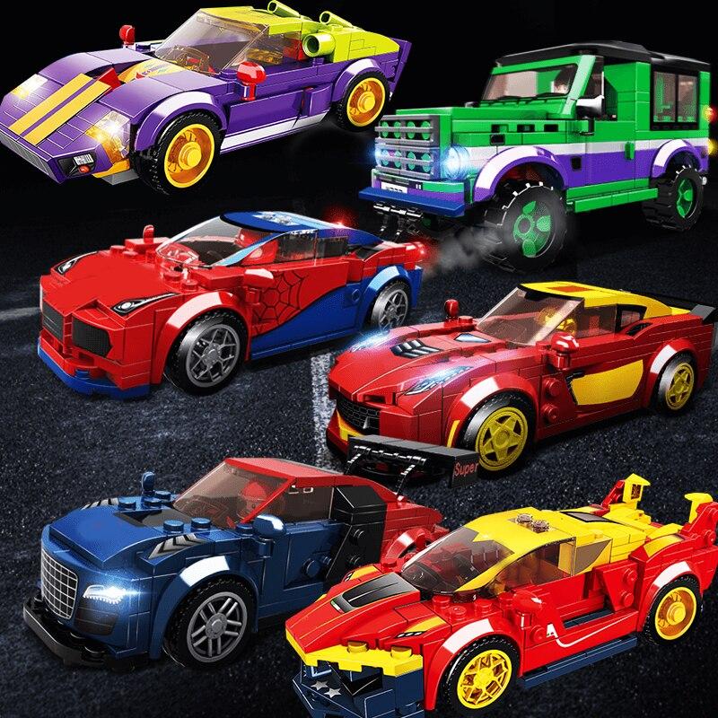 Городской автомобиль, скоростной чемпион, гоночный спортивный автомобиль, строительный блок, набор внедорожных моделей, кирпичи, обучающие...