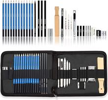33 Pieces Professional Drawing Sketching Pencils set,sketch Pencils, Drawing Supplies Perfect for Artists and Beginners