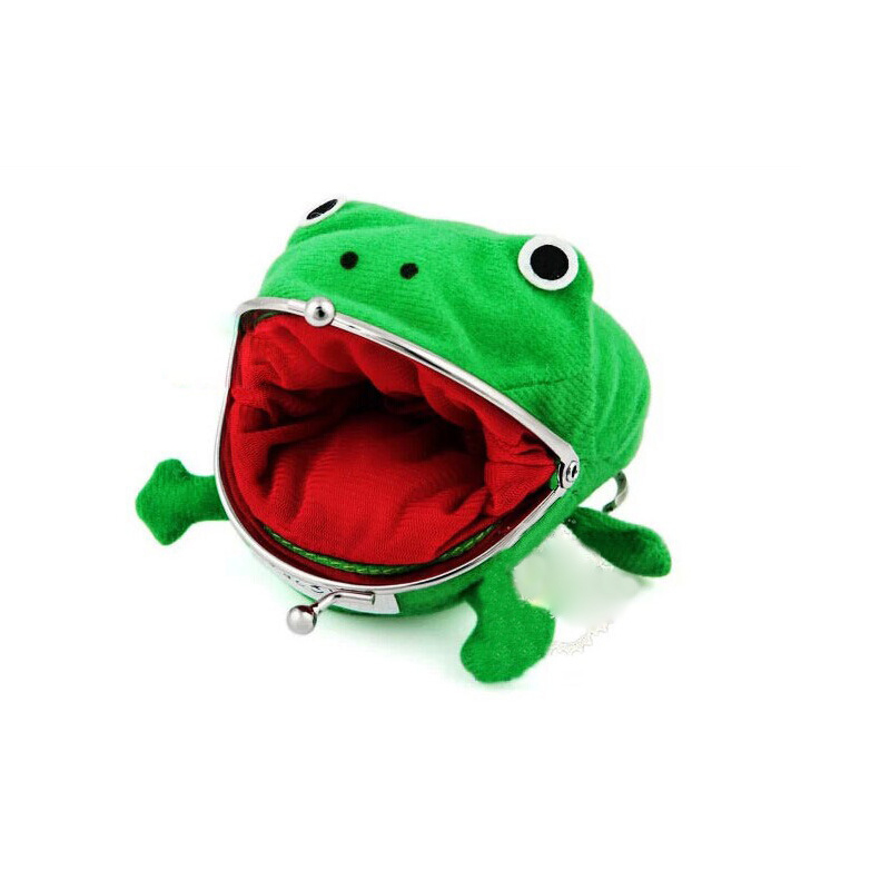 Anime Naruto Coin Purse Green Frog Bag Funny Cute Little Stuff Money Bags Cartoon Gift