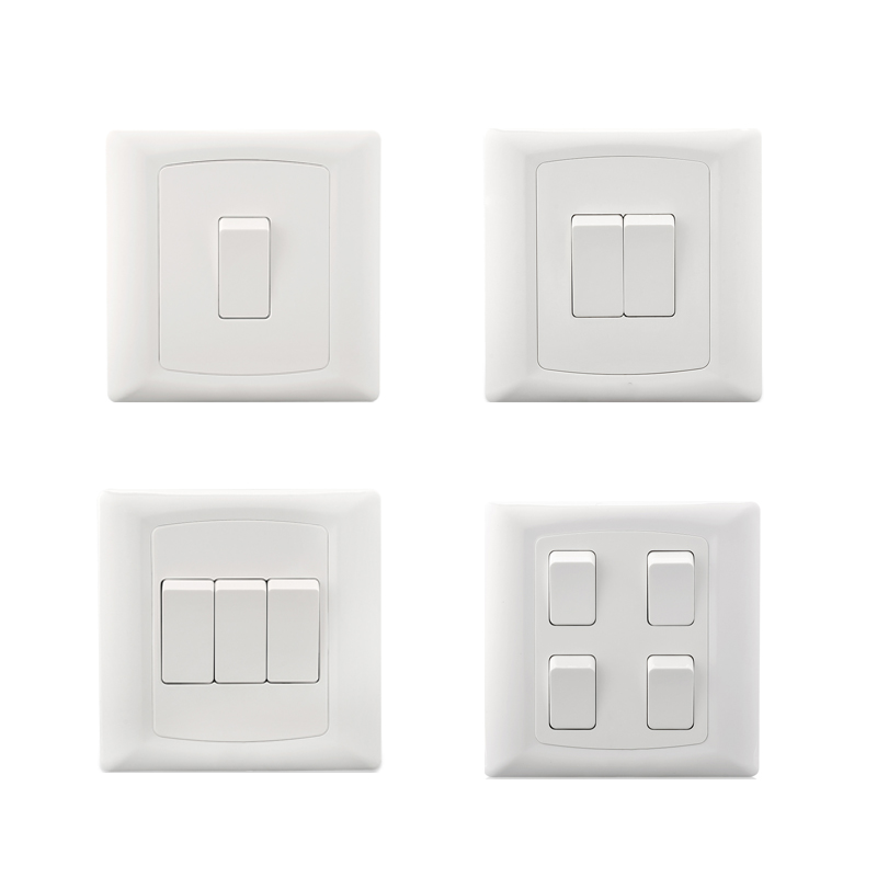 2019 Cognag Wall Electric Light Switch Home Style PC Plates New Type Home 10A 1 2 3 4 Gang 1 2 Way