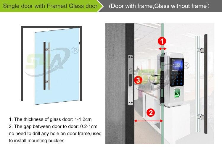2.Single door with Framed Glass door