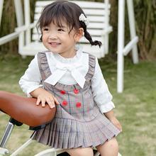 купить Children Baby Girls Dress1-7T Toddler Girl Clothes Plaid Print Fake Two Piece Bottoming Long Sleeved Sweet Princess Dress #23 онлайн