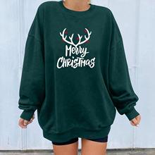 Women's hoodie christmas printed sweatshirts winter sudadera