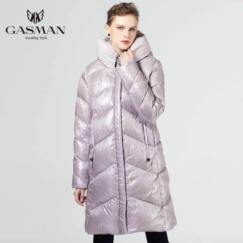 GASMAN 2019 Brand Fashion Thick Women Winter Bio Down Jackets Hooded Women Parkas New Winter Female Coats Plus Size 5XL 6XL