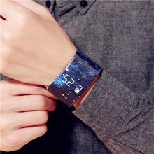Waterproof  Wristband Paper Watch Good looking LED Clock Watch Creative Digital Paper Strap Watches Sport Watch Wristwatch