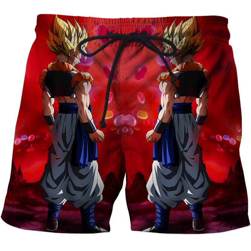 Summer Cool 3D Surfing Shorts Male Dragon Ball Printed Beach Shorts Homme Anime Cartoon Sport Swiming Shorts Mens