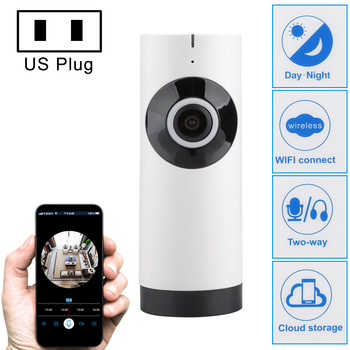IP Camera 180 Degree Wide Angle Fisheye Len HD 720P WiFi Two Way Audio Baby Monitor Household Security CCTV Cam Motion Detection image