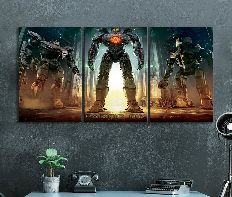 Sci-fi Monster Action Movie Pacific Rim HD Movie Poster Canvas Paintings Wall Art image