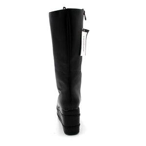 Image 4 - Enmayer botas de motociclista, sapatos góticos punk, botas cosplay, salto alto plataforma, sexy, com zíper, para inverno