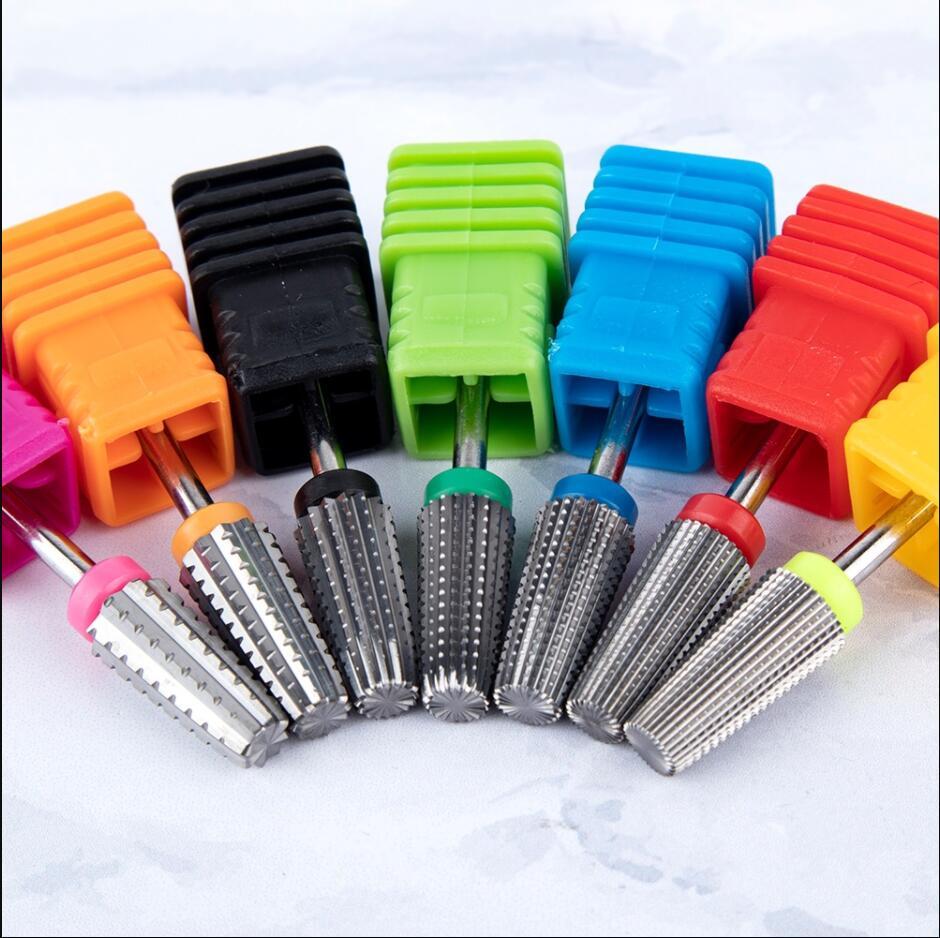 5 в 1 двухстороннее Карбидное сверло для ногтей машинка для маникюра и педикюра фреза пилки для ногтей Инструменты для удаления гель-лака дл...