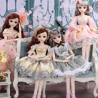 60cm Fashion Girl BJD Dolls Large Original Handmade 1/3 Doll 20 Movable Jointed Doll With Dress Toys For Children Kids Gift