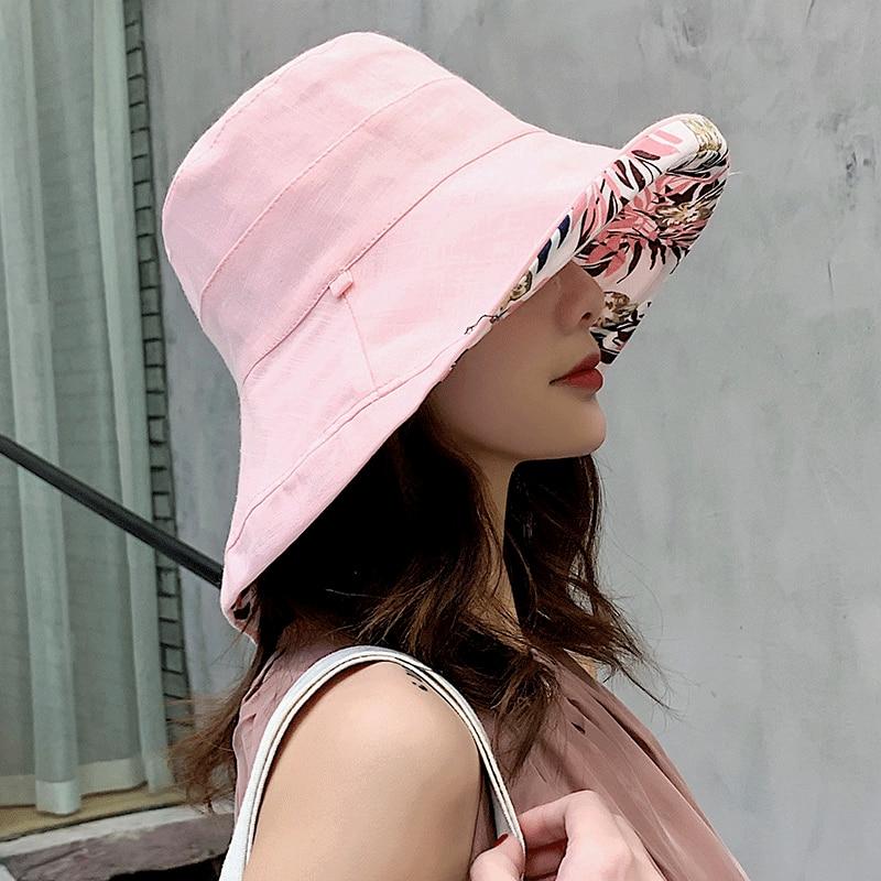 K34 Fashion Summer Big Brim Sun Hat For Female Seaside Sun Protection UV Cap Japanese Wild Fisherman Hat Korean Version 2020 NEW 5