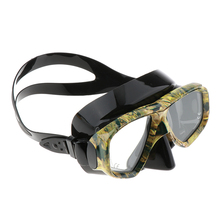 Diving Snorkeling Mask Camouflage Tempered Glass Waterproof Swimming Goggles