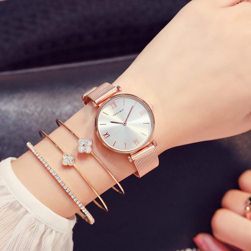 Women Watches Minimalist Style Stainless Steel Band Simple Analog Quartz Wristwatch Ladies Female Casual Watch Girl's Gift 2019