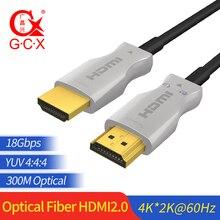 Gcx Glasvezel Hdmi Kabel 2.0 2.0a 2.0b Ultra Hd 4K 60Hz Hdmi Glasvezel Hdr 4:4:4 lossless Versterker 1 M 300 M Kabel Hdmi