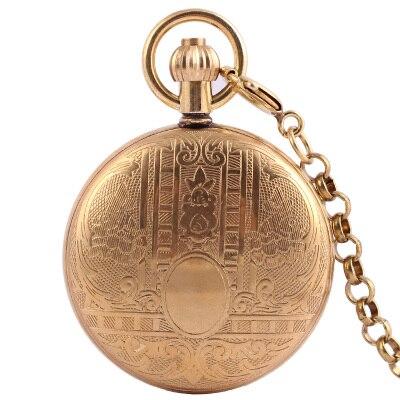 Черный стимпанк Скелет чистой меди автоматические мужские антикварные карманные часы Механические Роскошные брендовые ожерелья карманные часы