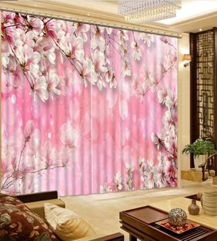 Beautiful fashion Flower custom 3d decoration curtain for living room living room kids rooms Home Decoration blackout curtains