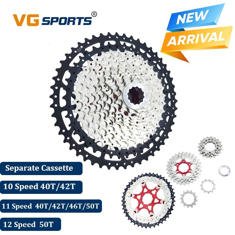 2019 VG Esportes Mountain Bike 10 11 12 Velocidade Velocidade Da Bicicleta Cassete MTB Ultraleve Cassete Roda Dentada 40T 42 Separado T 46T 50T