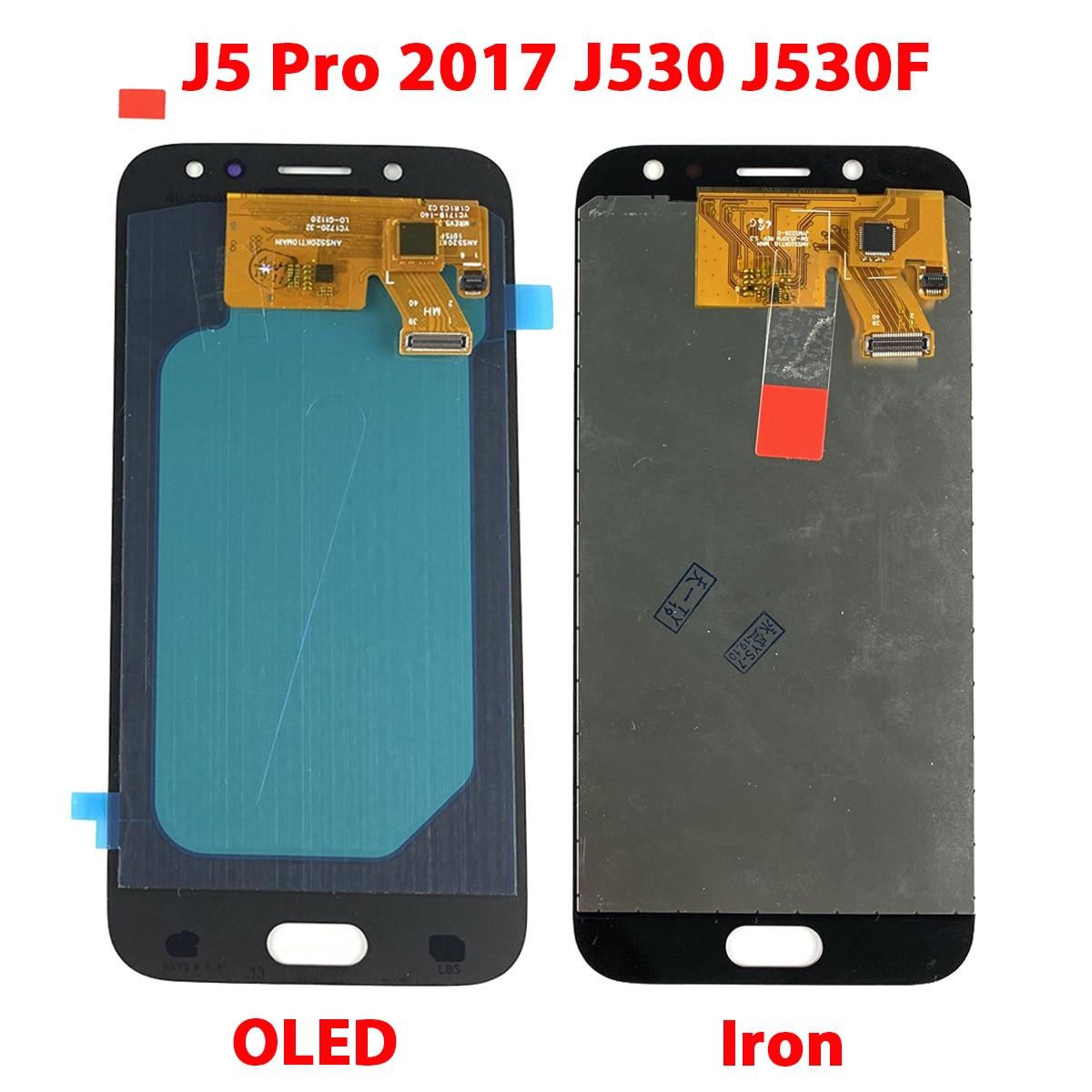 Test OLED & TFT For SAMSUNG Galaxy J5 Pro 2017 J530F Digitizer Display LCD Touch Screen For Samsung J530 LCD J530Y J530FM J5Pro