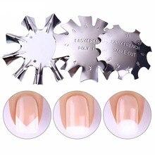 Легкий Французский инструмент для резки кромок ногтей, трафарет для ногтей, триммер для кромок, многоразмерный инструмент для маникюра и дизайна ногтей