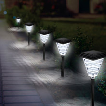 Solar Pathway Lights LED Garden Outdoor Waterproof Flickering Flames Landscape Decoration for May26