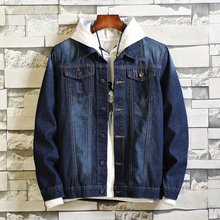 Autumn New Denim Jacket Men Slim Fashion Washed Solid Color Casual Coat Man Streetwear Hip Hop Bomber S-4XL
