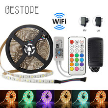 RF WiFi LED bande Light5050 RGB RGBW/RGBWW WiFi 10m 5m DC 12V 5050 RGB LED bande bande Flexible lumière WiFi 24 touches contrôle(China)