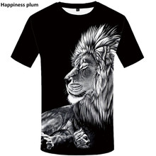 футболки мужские 3D Printed Animal lion tshirt 2019 Summer рубашка harajuku shirts Hip Hop Short Sleeve top tees лгбт продажа футболки мужские