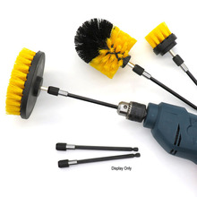 Car Wheel Brush Wash Car Cleaning Tools Hand Drill Cleaning Brush + Extension Rod Combination For Kitchen Corner  Cleaning Brush