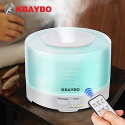 KBAYBO arôme humidificateur d'air à ultrasons 500ml télécommande diffuseurs d'huile essentielle lumière LED brumisateur aromathérapie purificateur